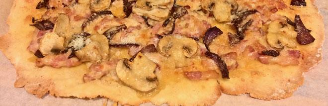 Receta base pizza sun gluten