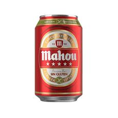 Lata cerveza Mahou sin gluten 33cl