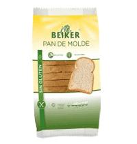 Pan de molde sin gluten Beiker