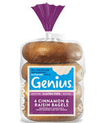 Genius Gluten Free - Cinnamon and raisin bagels
