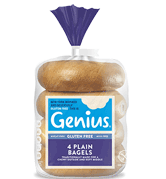 Genius Gluten Free - Plain Bagels