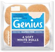 Genius Gluten Free - Soft White Rolls
