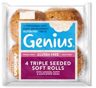 Genius Gluten Free - Triple Seeded White Rolls
