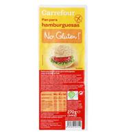 Pan de hamburguesas sin gluten Carrefour