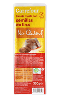 Pan de molde con semillas de lino sin gluten Carrefour