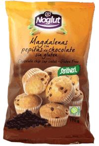 Noglut Santiveri Magdalenas con pepitas de chocolate