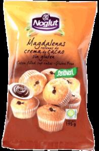 Noglut Santiveri Magdalenas rellenas de crema de cacao