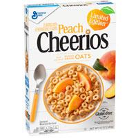 Cereales sin gluten Cheerios Melocotón