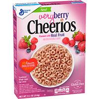 Cereales sin gluten Cheerios Frutos rojos