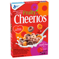 Cereales sin gluten Cheerios Fruity