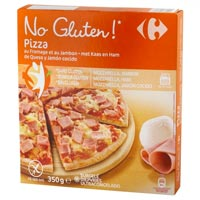 Carrefour Pizza sin gluten Jamón y Queso