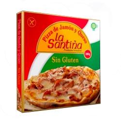 Pizza de jamón y queso de La Santiña