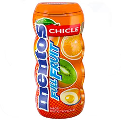 Chicles Mentos Frutas Tropicales