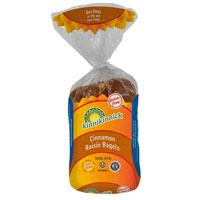 Kinnikinnick bagels sin gluten con canela y pasas