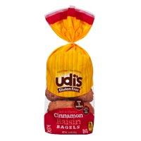 Udi's Bagels sin gluten con canela y pasas
