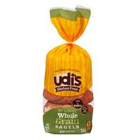Udi's Bagels sin gluten integrales